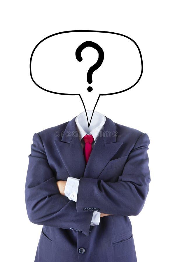Ο αόρατος επιχειρηματίας υποβάλλει την ερώτηση στοκ φωτογραφίες