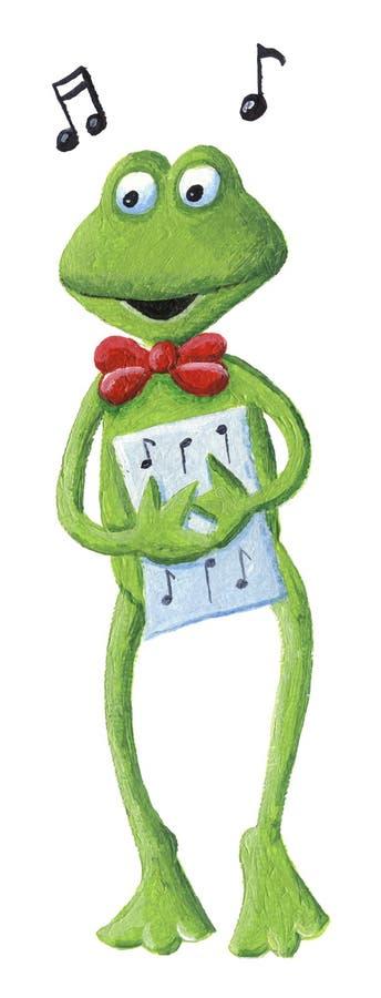 Ο βάτραχος τραγουδιού ελεύθερη απεικόνιση δικαιώματος