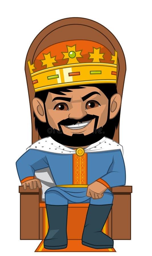 Ο βασιλιάς στο trone του ελεύθερη απεικόνιση δικαιώματος