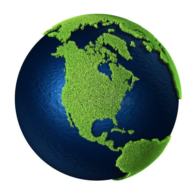 ο Βορράς γήινης χλόης της Αμερικής διανυσματική απεικόνιση