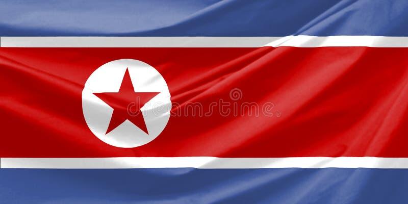 ο Βορράς της Κορέας σημαιών ελεύθερη απεικόνιση δικαιώματος