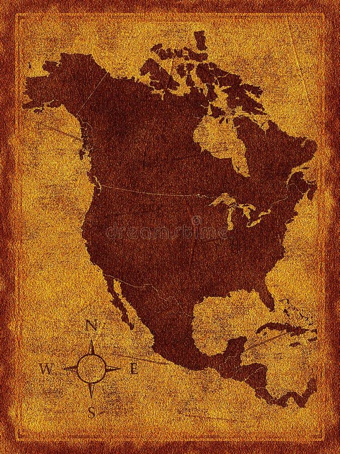 ο Βορράς χαρτών της Αμερικ απεικόνιση αποθεμάτων