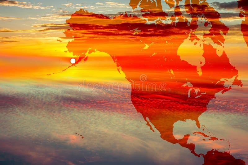 ο Βορράς χαρτών της Αμερικ στοκ φωτογραφία με δικαίωμα ελεύθερης χρήσης