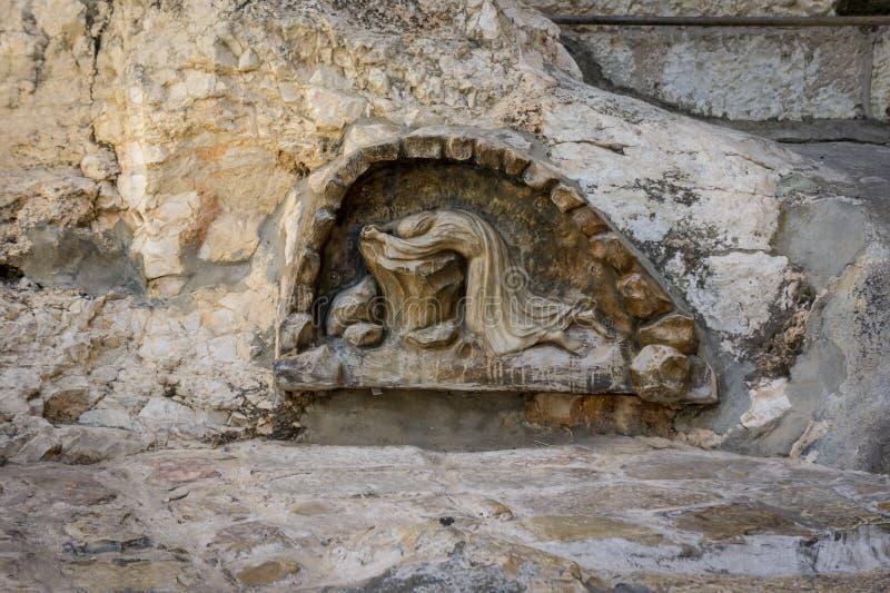 Ο βράχος της αγωνίας στην Ιερουσαλήμ, Ισραήλ στοκ εικόνες