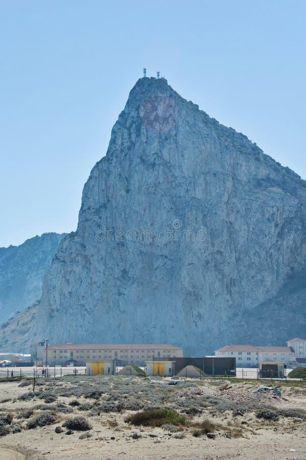 Ο βράχος του Γιβραλτάρ στοκ φωτογραφία με δικαίωμα ελεύθερης χρήσης
