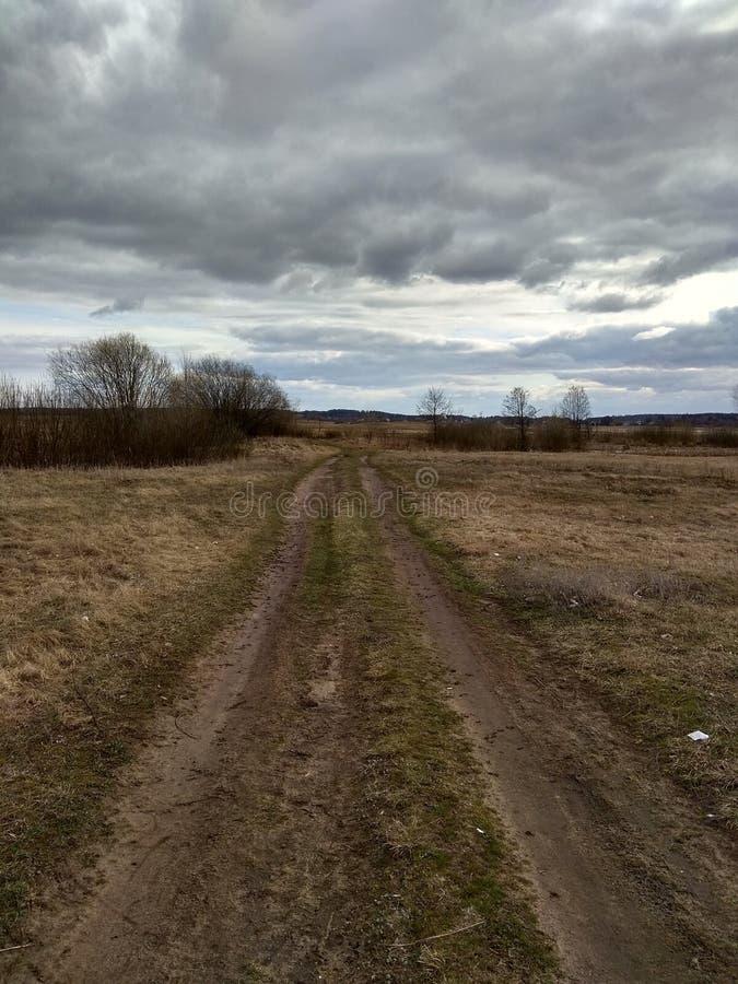 Ο βρώμικος δρόμος στοκ εικόνες