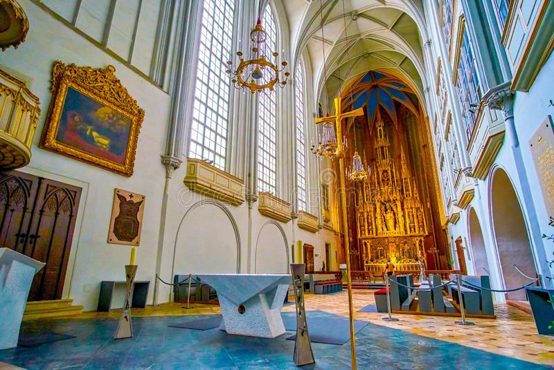 Ο βωμός στην εκκλησία του ST Augustine στη Βιέννη, Αυστρία στοκ φωτογραφίες με δικαίωμα ελεύθερης χρήσης
