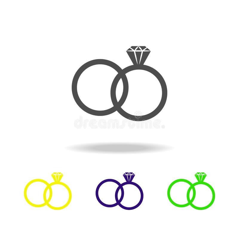 ο γάμος χτυπά τα πολύχρωμα εικονίδια Στοιχείο παντρεμένης της ζωή απεικόνισης ανθρώπων Εικονίδιο συλλογής σημαδιών και συμβόλων γ απεικόνιση αποθεμάτων