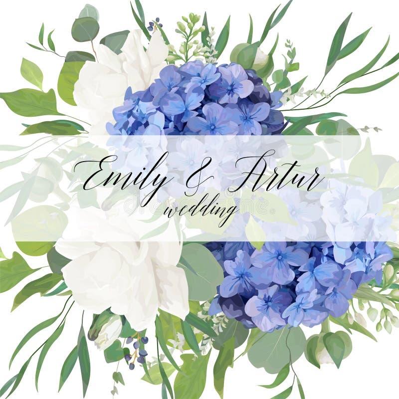 Ο γάμος floral προσκαλεί, εκτός από το σχέδιο καρτών ημερομηνίας με το κομψό BL απεικόνιση αποθεμάτων