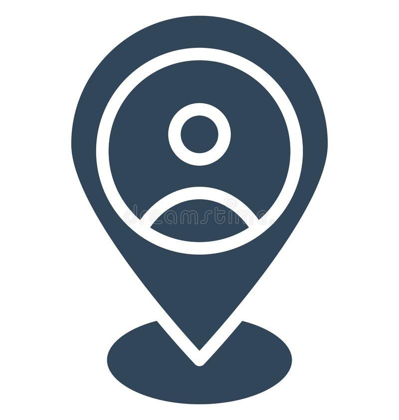 Ο γεωγραφικός προσδιορισμός θέσης ενός χρήστη απομόνωσε το διανυσματικό εικονίδιο που μπορεί εύκολα να τροποποιήσει ή να εκδώσει ελεύθερη απεικόνιση δικαιώματος