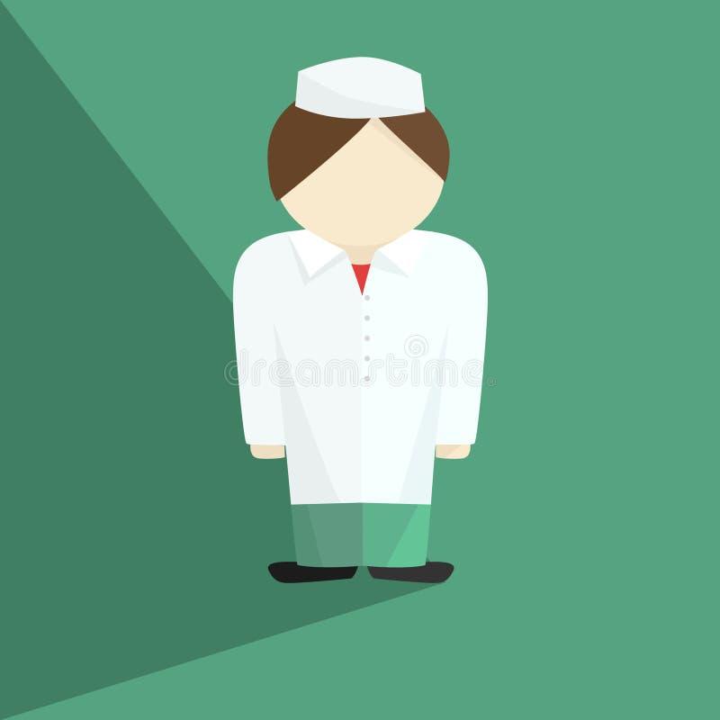 Ο γιατρός έντυσε ιατρικό σε ομοιόμορφο διανυσματική απεικόνιση