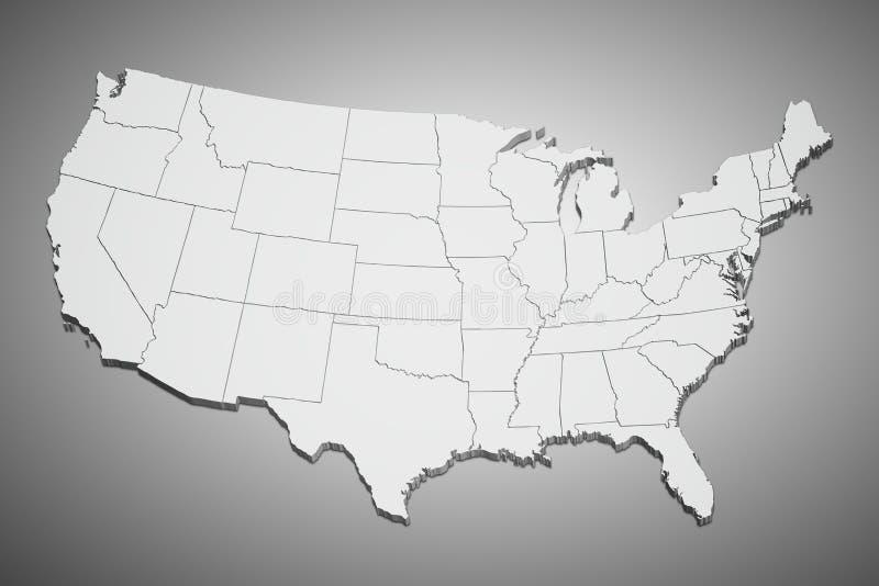 ο γκρίζος χάρτης δηλώνει ενωμένο διανυσματική απεικόνιση