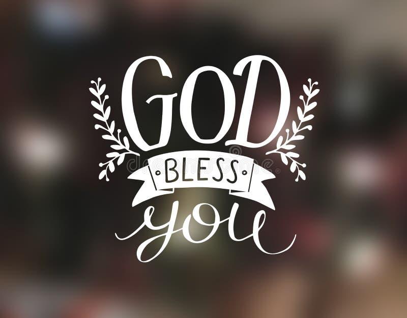 Ο γράφοντας Θεός χεριών σας ευλογεί ελεύθερη απεικόνιση δικαιώματος