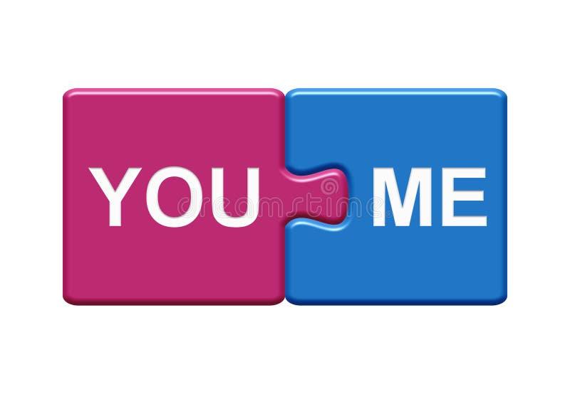 2 ο γρίφος κουμπώνει το ροζ και το μπλε που παρουσιάζουν σας και με διανυσματική απεικόνιση