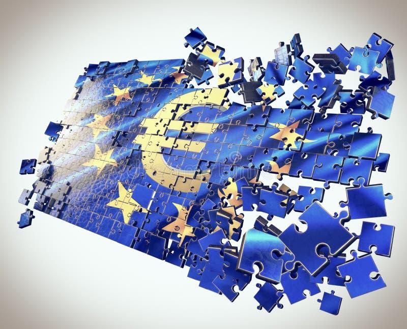Ο γρίφος της Ευρωπαϊκής Ένωσης διανυσματική απεικόνιση