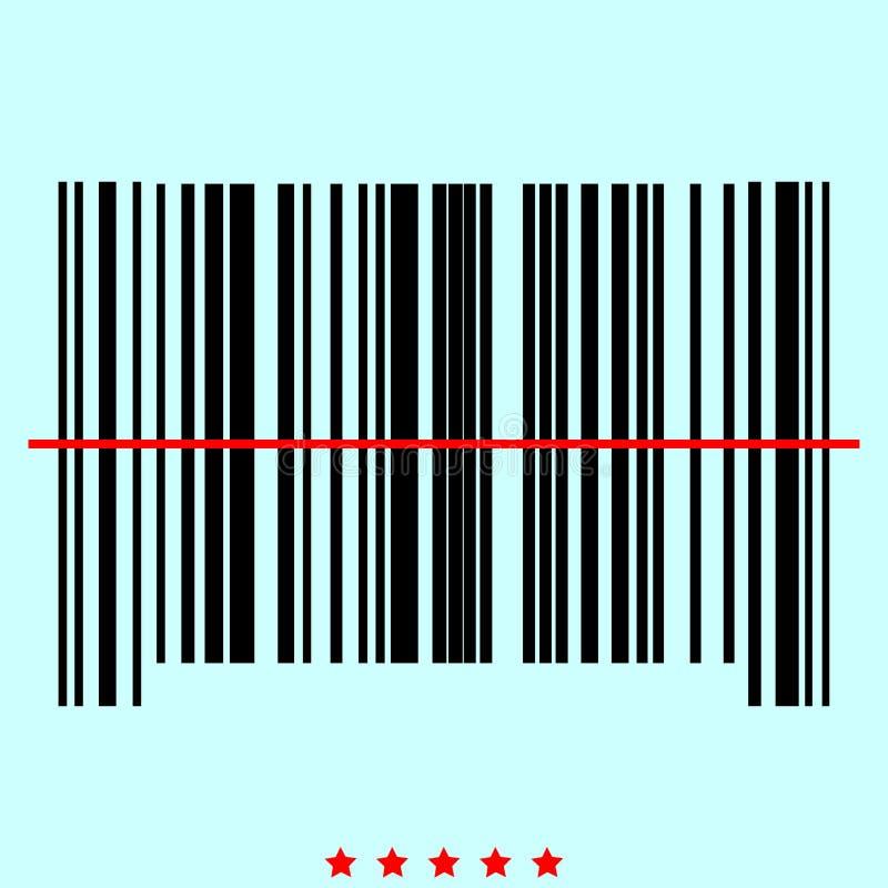 Ο γραμμωτός κώδικας αυτό είναι εικονίδιο χρώματος ελεύθερη απεικόνιση δικαιώματος