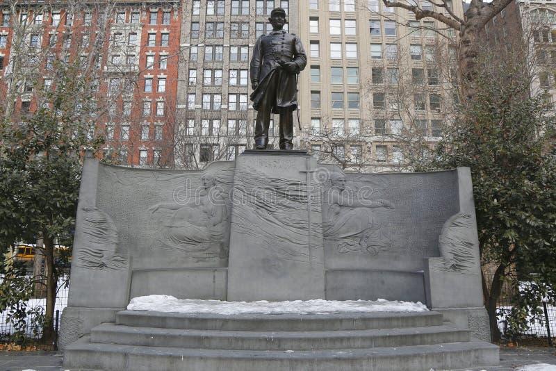 Ο Δαβίδ Farragut Memorial στο τετραγωνικό πάρκο του Μάντισον στο Μανχάταν στοκ φωτογραφίες