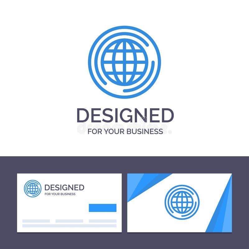 Ο δημιουργικός κόσμος προτύπων επαγγελματικών καρτών και λογότυπων, σφαίρα, μεγάλη, σκέφτεται τη διανυσματική απεικόνιση διανυσματική απεικόνιση