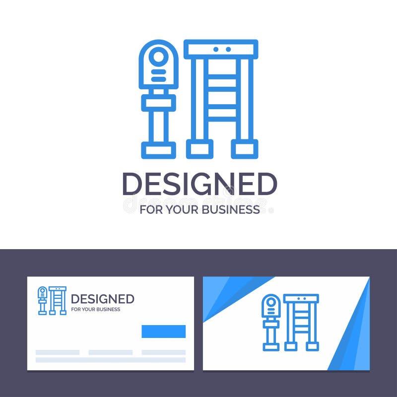 Ο δημιουργικός πάγκος προτύπων επαγγελματικών καρτών και λογότυπων, λεωφορείο, σταθμός, σταματά τη διανυσματική απεικόνιση ελεύθερη απεικόνιση δικαιώματος
