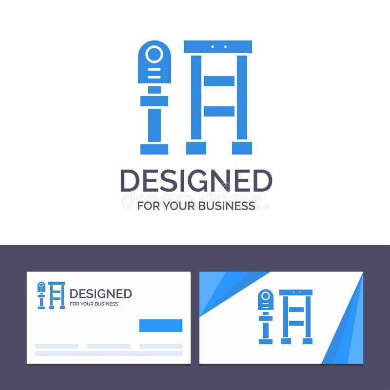 Ο δημιουργικός πάγκος προτύπων επαγγελματικών καρτών και λογότυπων, λεωφορείο, σταθμός, σταματά τη διανυσματική απεικόνιση απεικόνιση αποθεμάτων