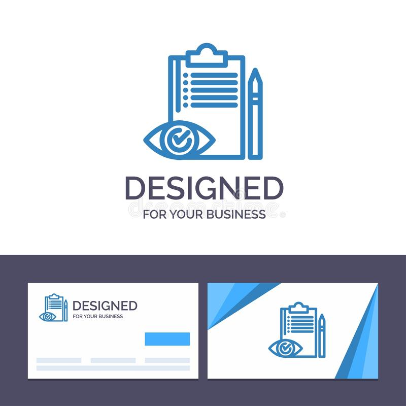 Ο δημιουργικός ποιοτικός έλεγχος προτύπων επαγγελματικών καρτών και λογότυπων, ανεκτέλεστη παραγγελία, πίνακας ελέγχου, έλεγχος,  ελεύθερη απεικόνιση δικαιώματος