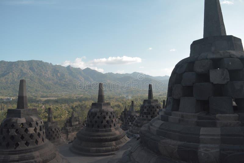 Ο διάσημος βουδιστικός ναός στην Τζοτζακάρτα, Ινδονησία στοκ εικόνα με δικαίωμα ελεύθερης χρήσης