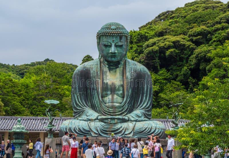 Ο διάσημος μεγάλος Βούδας στο ναό Kamakura Daibutsu - ΤΟΚΙΟ, ΙΑΠΩΝΙΑ - 12 Ιουνίου 2018 στοκ φωτογραφία με δικαίωμα ελεύθερης χρήσης