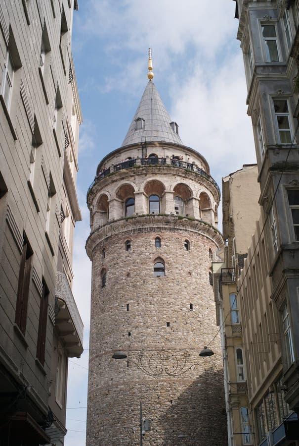 Ο διάσημος πύργος Galata στη Ιστανμπούλ, Τουρκία στοκ φωτογραφία