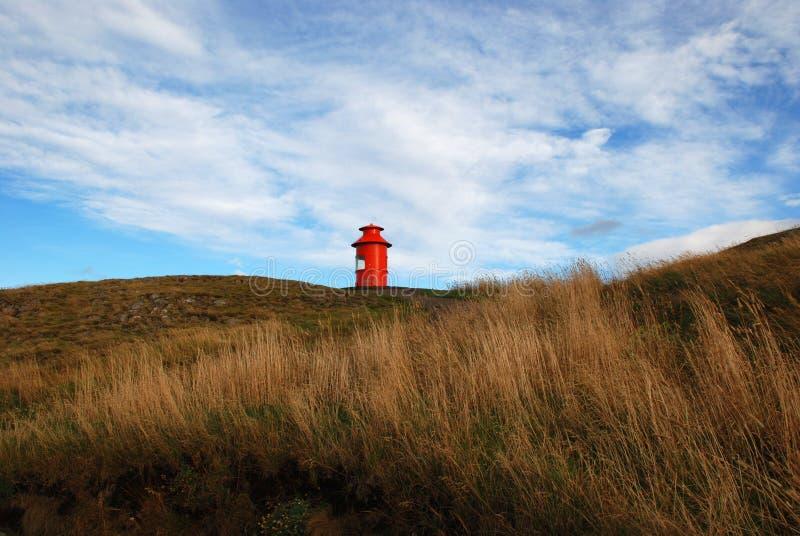 Ο διάσημος φάρος Stykkisholmur, Ισλανδία στοκ φωτογραφία με δικαίωμα ελεύθερης χρήσης