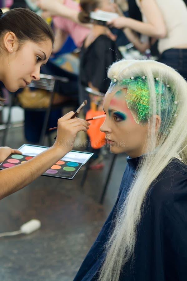 ο διαγωνισμός hairdress αποτελ&ep στοκ φωτογραφία με δικαίωμα ελεύθερης χρήσης