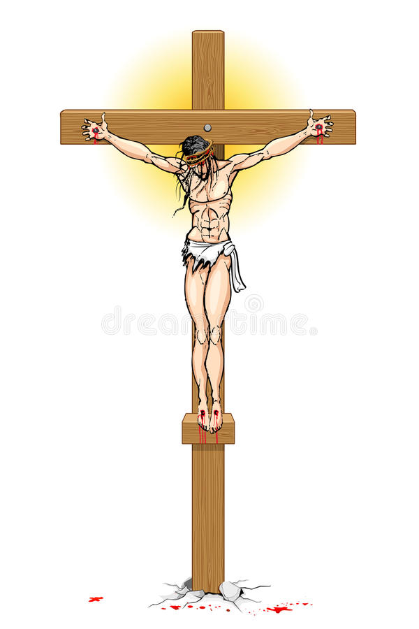 ο διαγώνιος Ιησούς ελεύθερη απεικόνιση δικαιώματος