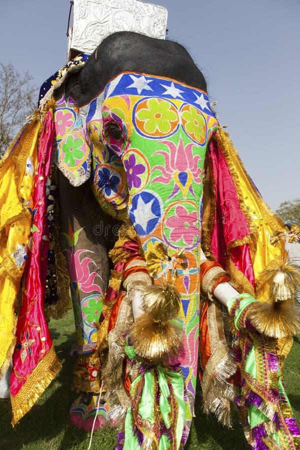 Ο διακοσμημένος ελέφαντας. στοκ εικόνες