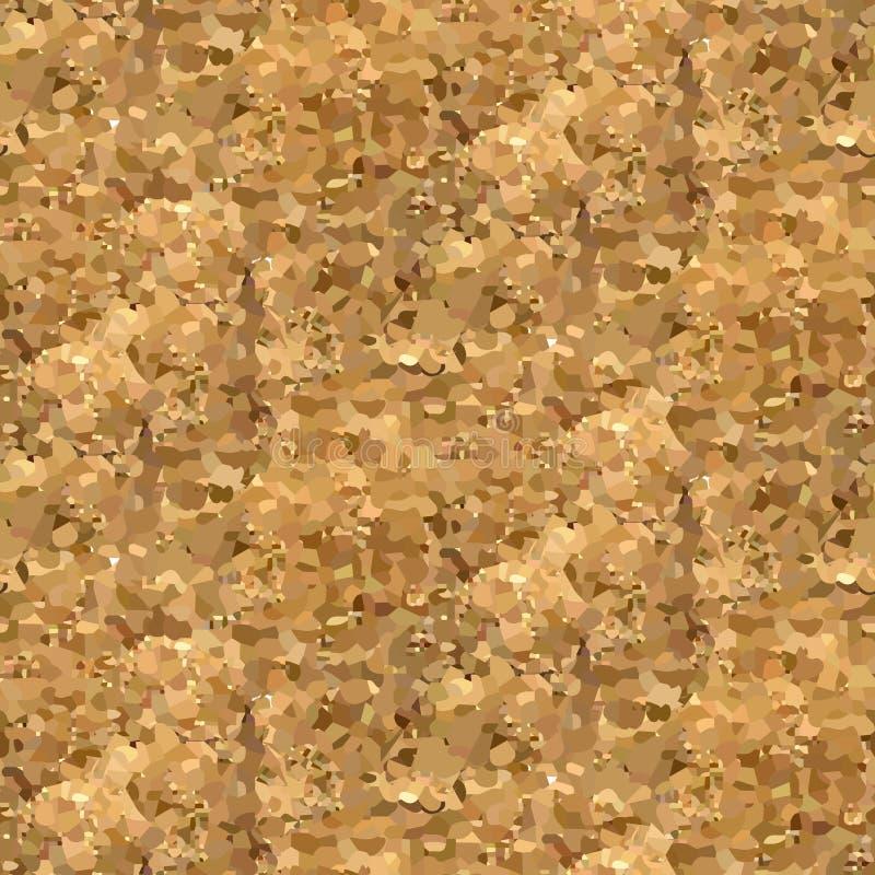 Ο διανυσματικός χρυσός ακτινοβολεί άνευ ραφής υπόβαθρο άμμου απεικόνιση αποθεμάτων
