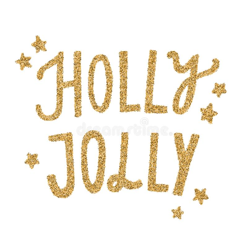 Ο διανυσματικός χρυσός της Holly ευχάριστα ακτινοβολεί γράφοντας απεικόνιση αποθεμάτων