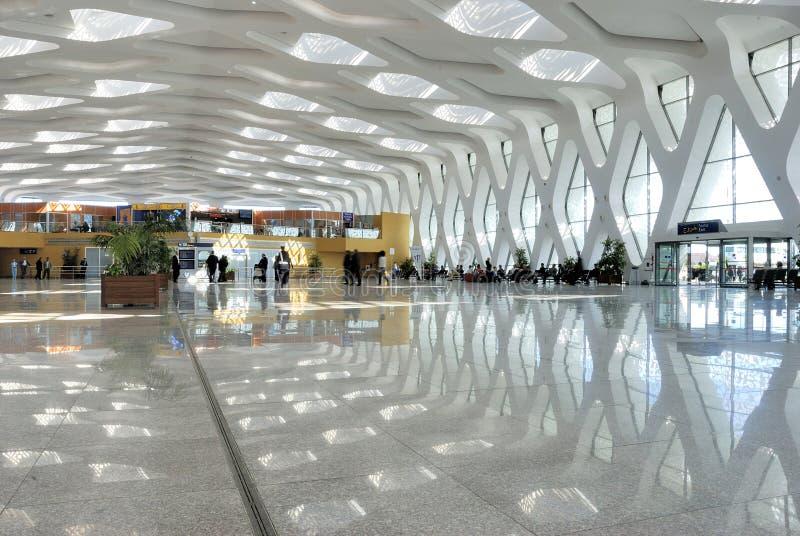 Ο διεθνής αερολιμένας του Μαρακές στο Μαρόκο στοκ εικόνες