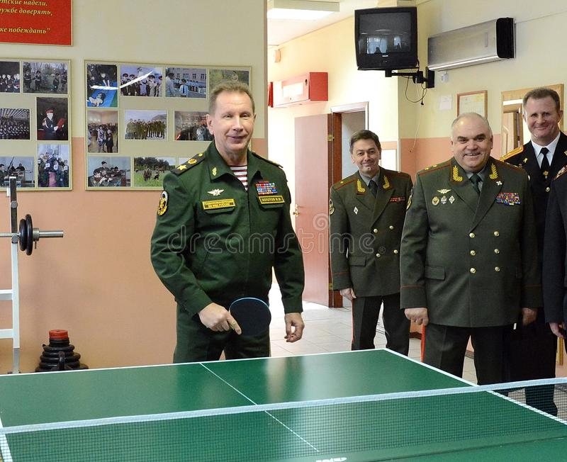 Ο διοικητής--προϊστάμενος των εσωτερικών στρατευμάτων του Υπουργείου εσωτερικών θεμάτων της Ρωσίας, γενικών του στρατού Βίκτωρ Zo στοκ φωτογραφία με δικαίωμα ελεύθερης χρήσης