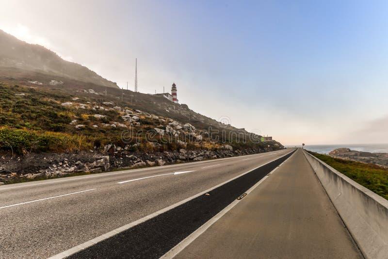 Ο δρόμος της Misty στη Γαλικία στοκ εικόνα με δικαίωμα ελεύθερης χρήσης