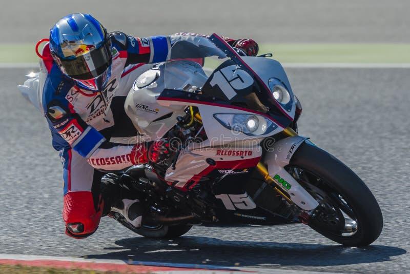 Ο ΔΡ συναγωνιμένος ομάδα 24 ώρες Motorcycling Catalunya στοκ εικόνα με δικαίωμα ελεύθερης χρήσης