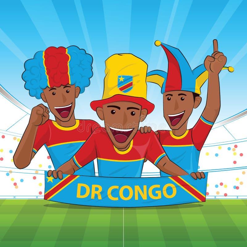 Ο ΔΡ υποστήριξη ποδοσφαίρου του Κονγκό απεικόνιση αποθεμάτων