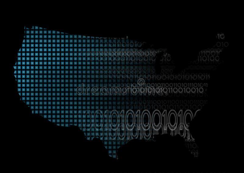 ο δυαδικός κώδικας μας &ch ελεύθερη απεικόνιση δικαιώματος