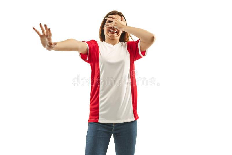 Ο δυστυχισμένος και λυπημένος γαλλικός ανεμιστήρας στο άσπρο υπόβαθρο στοκ φωτογραφία με δικαίωμα ελεύθερης χρήσης