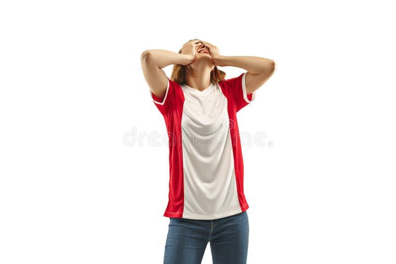 Ο δυστυχισμένος και λυπημένος γαλλικός ανεμιστήρας στο άσπρο υπόβαθρο στοκ εικόνες με δικαίωμα ελεύθερης χρήσης