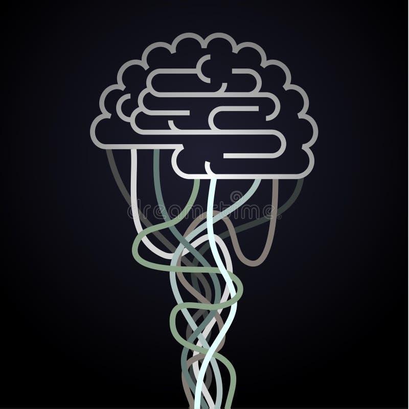 Ο εγκέφαλος συνδέεται με το δίκτυο απεικόνιση αποθεμάτων