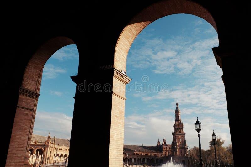 Ο ειδικός Plaza de España, Σεβίλη στοκ εικόνες