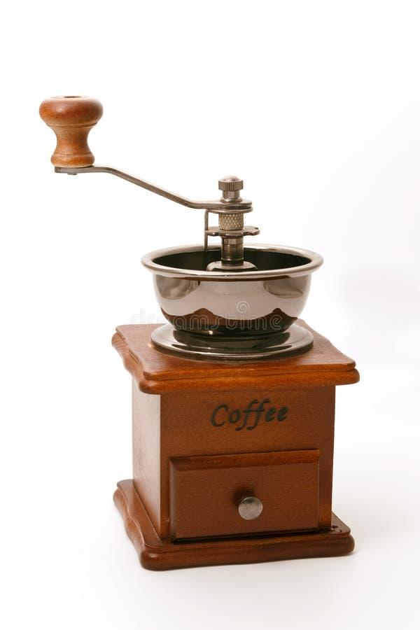 Ο εκλεκτής ποιότητας χειρωνακτικός μύλος καφέ απομονώνει στοκ εικόνες