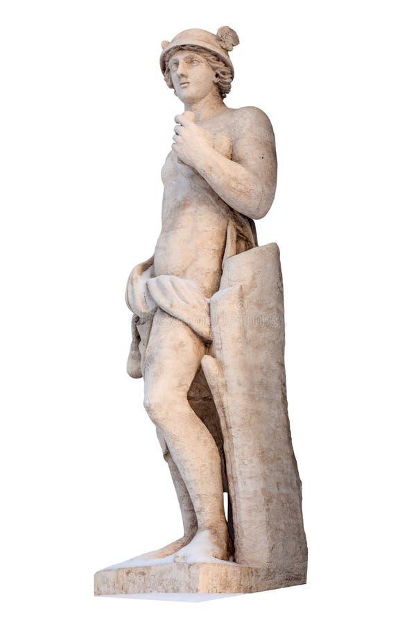 Ο ελληνικός υδράργυρος Θεών απομονώνει Ο υδράργυρος ήταν αγγελιοφόρο στοκ φωτογραφίες με δικαίωμα ελεύθερης χρήσης