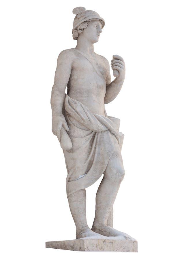 Ο ελληνικός υδράργυρος Θεών απομονώνει Ο υδράργυρος ήταν αγγελιοφόρο στοκ εικόνες με δικαίωμα ελεύθερης χρήσης