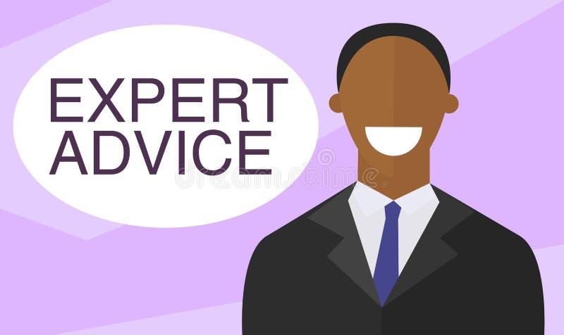 Ο εμπειρογνώμονας δίνει τις συμβουλές Επίπεδο σχέδιο διανυσματική απεικόνιση
