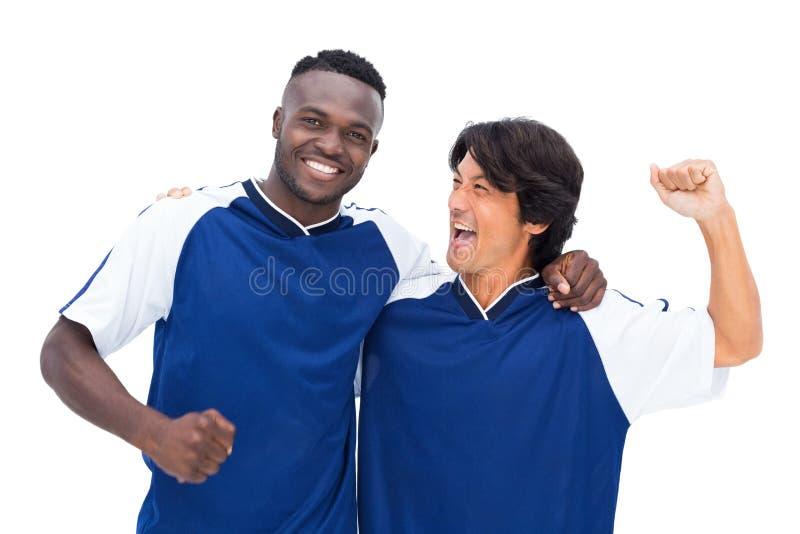Ο εορτασμός ποδοσφαιριστών κερδίζει στοκ φωτογραφία με δικαίωμα ελεύθερης χρήσης
