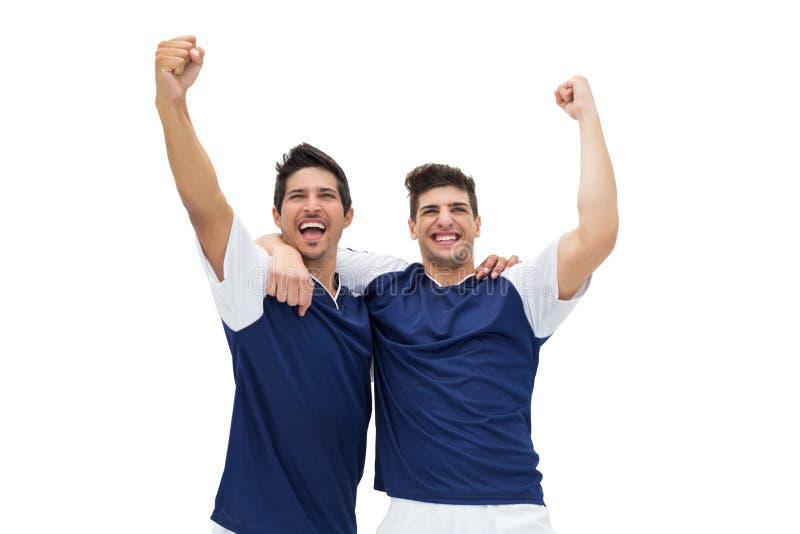 Ο εορτασμός ποδοσφαιριστών κερδίζει στοκ φωτογραφίες με δικαίωμα ελεύθερης χρήσης